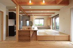 内観集 ~ダイニング・キッチン~ Small Japanese House, Living Room Japanese Style, Japanese Style House, Japanese Interior Design, Home Interior Design, Small Living Dining, Tatami Room, Small Apartment Interior, Small House Plans