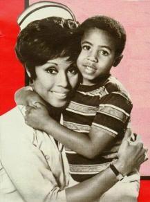 Julia - weekly series starring Diahann Carroll, as a nurse with a little boy, Corey, whose husband was killed in the Vietnam war.