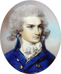 George Engleheart (1750-1829)  Miniature portrait of Robert Gibbons