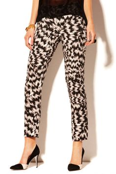 Abstract Vince Camuto Abstract Printed Pants, $89; vincecamuto.com Read more: Womens Printed Pants - Designer Printed Pants Follow us: @ElleMagazine on Twitter | ellemagazine on Facebook Visit us at ELLE.com