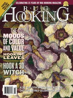 Rug Hooking Magazine - Traditional Rug Hooking Patterns, Primitive Rugs, Inspiration and Sharon Smith, Rug Hooking Patterns, Rug Patterns, Fall Color Schemes, Hand Hooked Rugs, Penny Rugs, Traditional Rugs, Etsy Crafts, Wool Applique