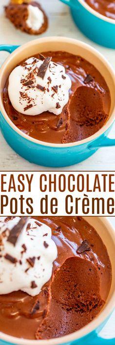 Best Dessert Recipes, Easy Desserts, Delicious Desserts, Yummy Food, Dessert Ideas, Easy Sweets, Individual Desserts, Chocolate Desserts, Chocolate Pots