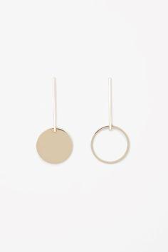 COS Drop circle earrings in Gold