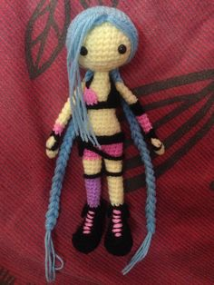 jinx league of legend amigurumi #Jinx #Crochet #Amigurumi