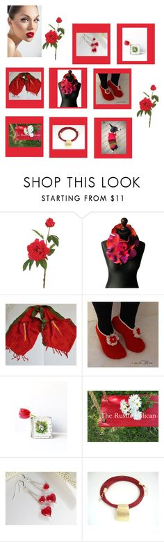 """""""Red Rose"""" by therusticpelican ❤ liked on Polyvore featuring John Lewis, modern, contemporary, rustic and vintage"""