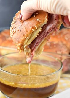 French Dip Sliders are the perfect dinner recipe, or serve them as a game day snack or lunch! Easy to assemble, and taste delicious too!