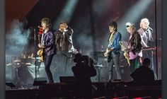 British band The Rolling Stones open the Orange Stage at the Roskilde Festival…