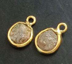 Champagne Brown Raw Diamond Connector Champagne by gemsforjewels