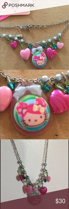 Tarina Tarantino Hello Kitty Necklace Pink Tarina Tarantino Pink Head Hello Kitty necklace . Comes with original pouch and info card. Super cute, fun, chunky necklace. Very whimsical. Moving Sale, check out my other listings. Considering all offers. Tarina Tarantino Jewelry Necklaces