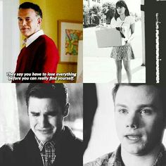 They say you have to lose everything before you can really find yourself ❤ #glee