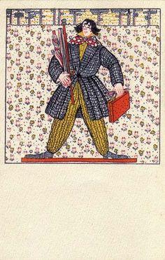 823. Fritzi Löw - Wiener Werkstatte postcard