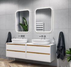 Lustra łazienkowe Lumiro z oświetleniem LED marki Excellent. ------------------------------- #excellent #łazienki #budowadomutrwa #mojemieszkanie #mieszkaniewbloku #bathrom #instagood #wnętrza #wnętrze #aranżacja #nowydom #bathproducts #projektant #morze Double Vanity, Led, Bathroom, Washroom, Full Bath, Bath, Bathrooms, Double Sink Vanity