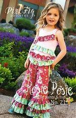 Rosie Posie Ruffle Pants & Top - DIY: Pink Fig Sewing Pattern