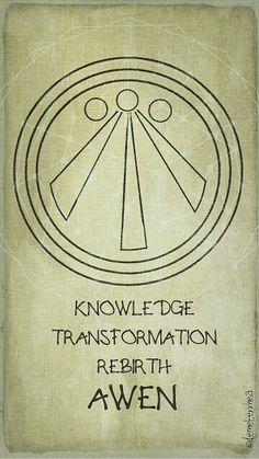 AWEN Knowledge, Transform and Rebirth. Symbol of goddess Cerridwen☺