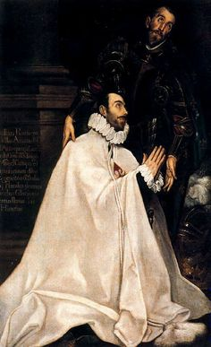 Julián Romero de las Azanas and his Patron Saint  El Greco