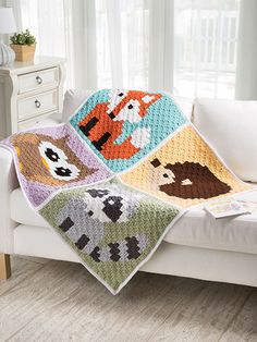 I have something exciting to tell you guys! I wrote a crochetbook! And it features one of my favorite techniques: C2Ccrochet! Corner-to-Corner Lap Throws for the Family includes 5 super cute designs: Woodland Animals, Snowman, Simple Stripes, Sheep, and a Sweet Dreams Baby Blanket. If you aren't familiar with C2C, instead of a written pattern, …