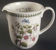 Portmeirion Botanic Garden 30 Ounce Measuring Jug, Fine China Dinnerware by Portmeirion. $25.99. Portmeirion - Portmeirion Botanic Garden 30 Ounce Measuring Jug - Various Plants & Insects,Green Laurel