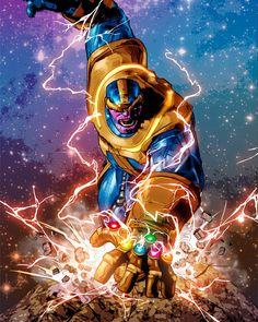 """mikedeodatojr: """"Thanos - Colors by Rain """""""