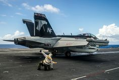 "EA-18G Growler Prepares to Launch off USS George Washington CVN-73 Waters East of Okinawa July 29, 2014 - 8 x 12"" Photograph"