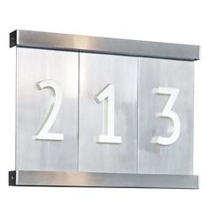 Aluminum Tile House Numbers 3,4, or 5 Tiles with Bracket | Was $19 per number C5600