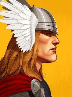 Mike Mitchell x Marvel x Mondo - Thor
