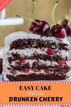 Christmas Parties, Christmas Ideas, Golden Rum Cake Recipe, Banana Pie, Chocolate Cherry Cake, Cherry Syrup, Banoffee Pie, Forest Cake, Cake Recipes From Scratch
