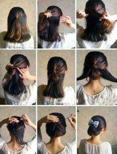 Peinados paso a paso para cabello corto, encuentra más ideas aquí... http://www.1001consejos.com/peinados-para-cabello-corto-paso-paso/