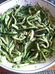 """Pensive Paleo: Zucchini Pesto """"Pasta"""""""