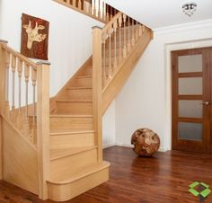 Bespoke Timber Staircase and Loft Stair Manufacturer Together with Stair Parts. Design Staircase Online using our StairBuilder - Instant Quote! Narrow Staircase, Timber Staircase, New Staircase, Staircase Design, Loft Stairs, House Stairs, Big Design, House Design, Staircase Manufacturers