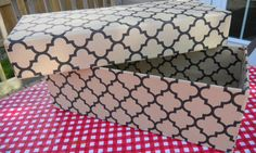 Make your own decorative storage boxes to hide your junk from your guests while presenting an organized and fashionable image at the same time. These sell for upwards of $20 in the store and you can make them for less than $3!