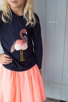 Cooles Flamingo Geburtstagsshirt zum siebten Geburtstag selber nähen