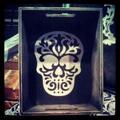 Buy at www.facebook.com/skullsandstones #skull #box