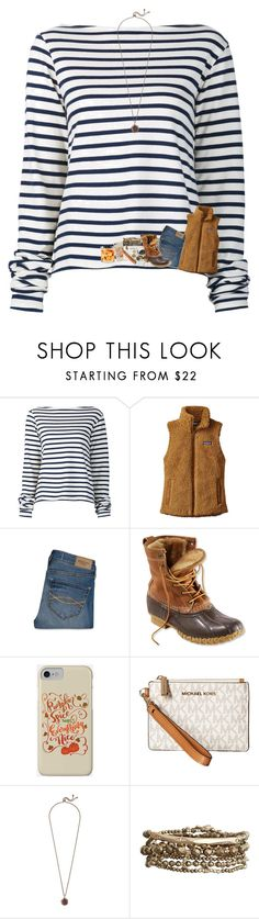 """It's finally cold!!🍁"" by mre7986 ❤ liked on Polyvore featuring Jacquemus, Patagonia, Abercrombie & Fitch, L.L.Bean, MICHAEL Michael Kors, Kendra Scott and SONOMA Goods for Life"