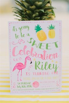My sweet girl turned one and her first birthday bash was a success. She swam, smashed cake, and eventually slept after partying all afternoon. With the help of lots of Etsy vendor, I was able to pull off (planning parties is not my strong suit) a flamingo and pineapple theme pool party for Riley!…