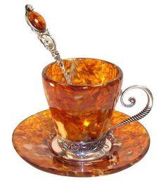 Coffee Cups Made Of Natural Amber #coffee, #drinks, #pinsland, https://apps.facebook.com/yangutu