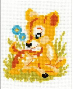Baby Deer - Cross Stitch Kit