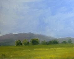 """Original Oil Painting, 8""""x10"""" Titled """"The Field"""" by Debi Hinshaw"""