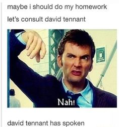 I should be doing a report for pe but I'm just uploading doctor who stuff (tee-her)