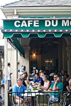 Cafe Du Monde New Orleans - go back for the donuts! Fun spot for breakfast and a coffee! Or just anytime for that something sweet thing! Oh The Places You'll Go, Great Places, Places To Travel, Places Ive Been, Amazing Places, New Orleans Vacation, New Orleans Travel, New Orleans Cafe Du Monde, Tennessee