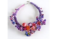 necklace by Nerve Tonic polymer clay and other materials