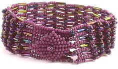 Batonga herringbone basket weave bracelet by daxbeadartpatterns, $7.00