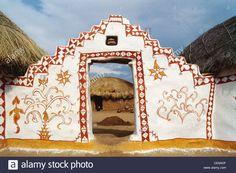 painted-entrance-gate-of-house-in-khudi-village-jaisalmer