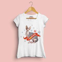 T-Shirt - Eu amo meu gato Sphynx - Cat Club