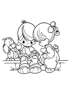 Precious Moments Coloring Pages   Precious Moments coloring pages with love.
