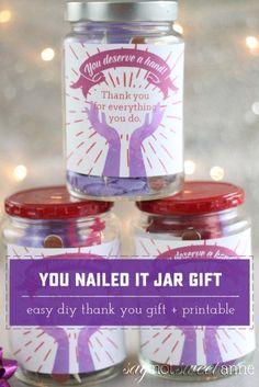 DIY Nail Jar Gift. P