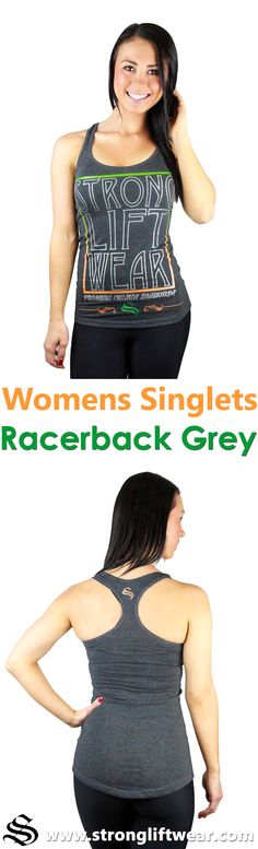 Ladies Diamond Series Racerback- Grey Stand out from the crowd and shine in the Diamond Series Racerback! │gym wear │fitness wear │fitness clothing │fitness │outfits │workout dress │gym outfits │workout outfits │shorts │hoodie │singlets │pants #gymwear #fitnesswear #fitnessclothing #fitness #outfits #workoutdress #gymoutfits #workoutoutfits #shorts #hoodie #singlets #pants