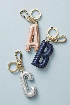 Monogram Keychain #stockingstuffers #keychain #monogrammed #anthropologie