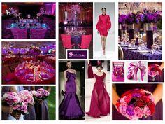 pink and purple wedding themes