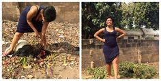 Pretty Nigerian Lady Slaughtering A Goat For Christmas Goes Viral, see photos ~ NOTJUSTPOST.COM