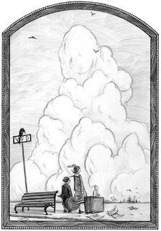 Framed print? Brett Helquist from a series of unfortunate events. This is very similar to the scene from Spirited Away that I'm thinking of getting done.
